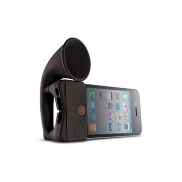 Подставка Bone Horn Stand Black (для iPhone 4/4S, силикон, усилитель звука)