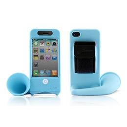 Подставка Bone Horn Bike Blue (для iPhone 4/4S, силикон, усилитель звука)
