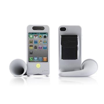 Подставка Bone Horn Bike Grey (для iPhone 4/4S, силикон, усилитель звука)