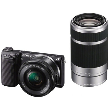 Sony NEX-5TY Double Kit 16-50mm, 55-210mm Black