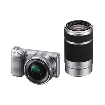 Sony NEX-5TY Double Kit 16-50mm, 55-210mm Silver