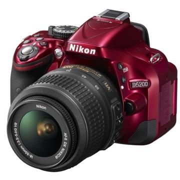 Nikon D5200 Kit 18-55mm VR-II DX Red