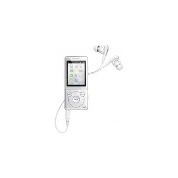"Sony NWZ-E573 4GB White (2"" LCD, FM радио, эквалайзер, функция шумоподавления)"