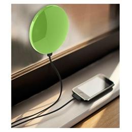 Солнечная зарядка Present Solar Circle Silver (USB, 1800 mAh, 1A, зарядка от солнца, крепление на стекло, круглая)