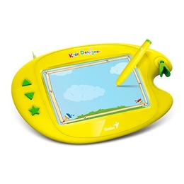 """Планшет для рисования Genius Kids Designer II Yellow (5""""x8"""", беспроводные перо, USB, 2560 lpi)"""