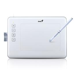 """Планшет для рисования Genius EasyPen M406XE White (4""""x6"""", беспроводное перо, не требующее батареек, с ПО Corel Painter Essentials 4)"""