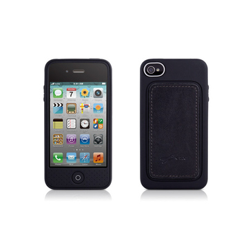 Футляр Bone Phone Leather Black (для iPhone 4S, кожа, 62x118x13 мм)