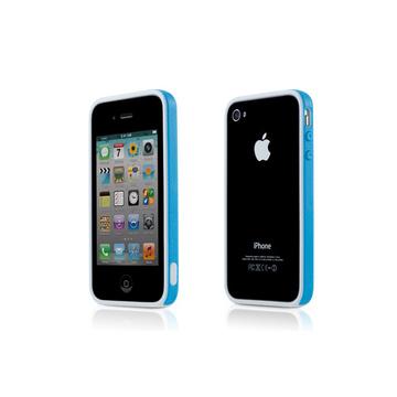 Бампер Bone Phone Ring Blue (для iPhone 4S, полипропилен, защита экрана)