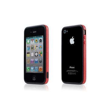 Бампер Bone Phone Ring Red (для iPhone 4S, полипропилен, защита экрана)