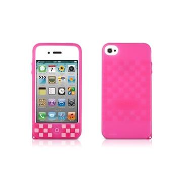 Футляр Bone Phone Cube Pink (для iPhone 4S, силикон, 62x118x13 мм)