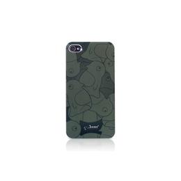 Футляр Bone Phone Shimmer Black (для iPhone 4S, силикон, 58x115x2.5 мм)