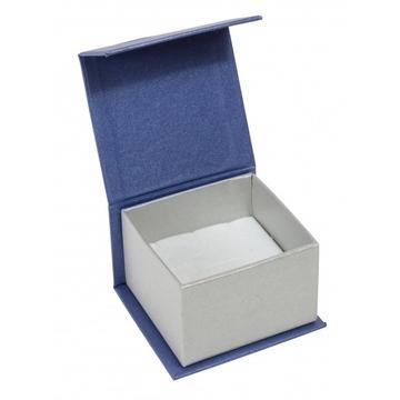 Коробка Present Paper FB1101 Blue Silver (картон, на магните, 65х60х40мм)