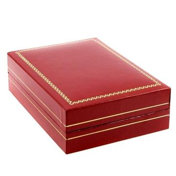 Коробка Present Leather N9704 Red (под кожу, 81х70х30мм)