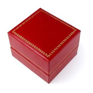 Коробка Present Leather N9706 Red (под кожу, 53х47х36мм)