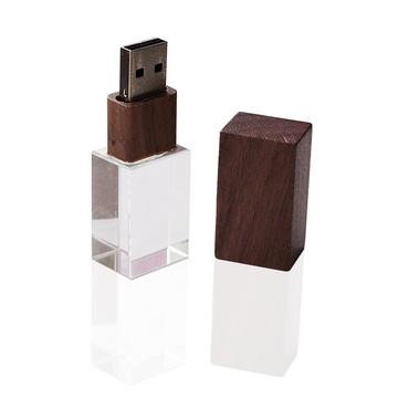 Накопитель под нанесение Present G140 8 GB Dark Wood Cap