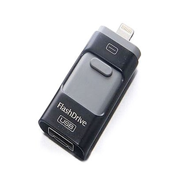 Present i-Flash Dual F2 16 Гб Black