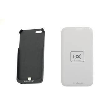 Зарядное устройство Present QI Black (беспроводное, для iPhone 5/5S, с черным чехлом)