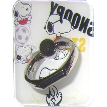 Крепление-кольцо Present U-036 Black White (Снупи в солнечных очках, металл, пластик)