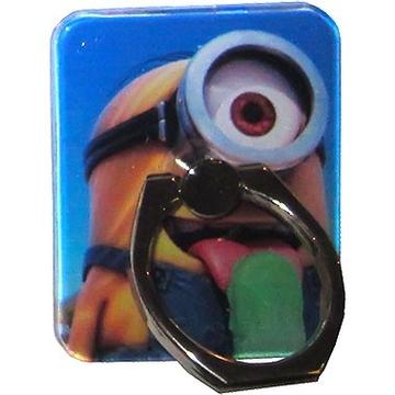 Крепление-кольцо Present U-045 Blue Yellow (миньон с эскимо, металл, пластик)
