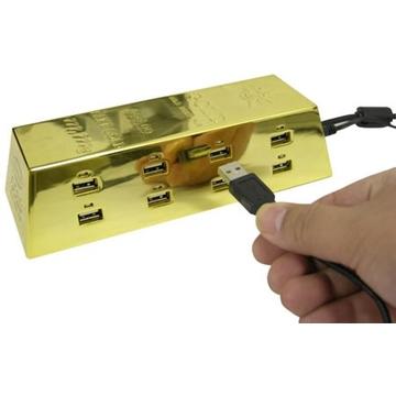 USB-хаб Present Ingot Gold (золотой слиток, на 8 гнезд)