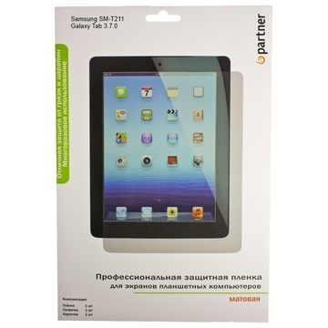 "Пленка защитная Partner (для Samsung SM-T21x Galaxy Tab 3 7.0"", матовая)"