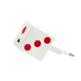 Зарядное устройство Partner Dice White (USB, 1.5A, кабель USB-microUSB)