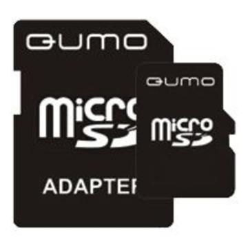 MicroSDHC 16Гб QUMO Класс 2 (адаптер)