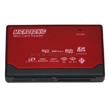 Card reader Microsonic CR-82 Black Red (57-в-1)