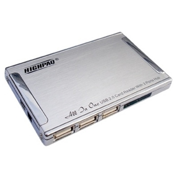 Card reader Highpaq MCH-S001 3 Port Silver (all-in-1)