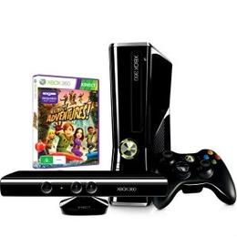 Microsoft Xbox 360 (S4G-00062, 4Gb, с Kinect, игра Kinect Adventures, игра Disney Adventures)