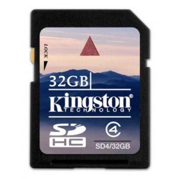 SDHC 32Гб Kingston Класс 4