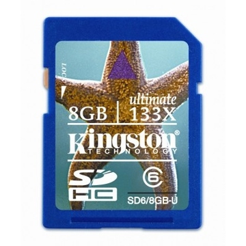 SDHC 08Гб Kingston Класс 6 Ultimate (скорость 133X)