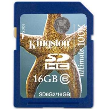 SDHC 16Гб Kingston Класс 6 Gen2