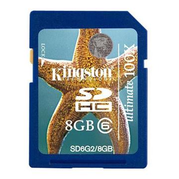 SDHC 08Гб Kingston Класс 6 Gen2