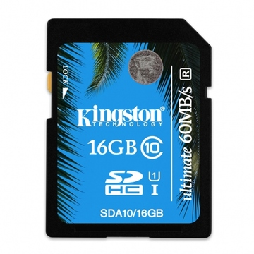 SDHC 16Гб Kingston Класс 10 UHS-I Ultimate