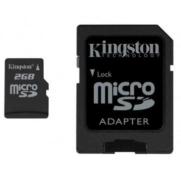 MicroSD 02Гб Kingston (адаптер)