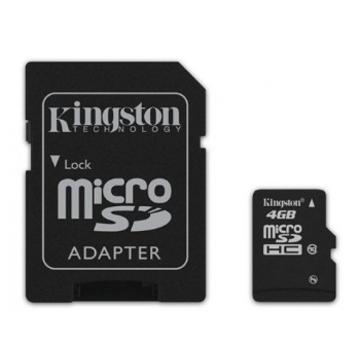 MicroSDHC 04Гб Kingston Класс 10 (адаптер)