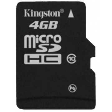 MicroSDHC 04Гб Kingston Класс 10 (без адаптера)