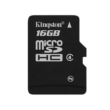 MicroSDHC 16Гб Kingston Класс 4 (без адаптера)