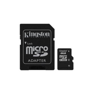 MicroSDHC 32Гб Kingston Класс 4 (адаптер)