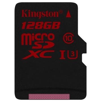 MicroSDXC 128Гб Kingston Класс 10 UHS-I U3 (без адаптера)
