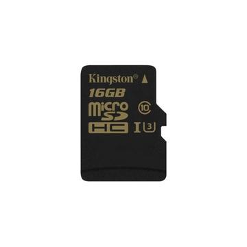 MicroSDHC 16Гб Kingston Класс 10 UHS-I U3 90/45 MB/s (адаптер)