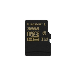MicroSDHC 32Гб Kingston Класс 10 UHS-I U3 90/45 MB/s (адаптер)