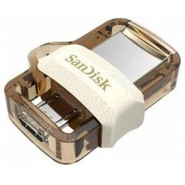 Флешка USB 3.0 Sandisk Ultra Dual Android m3.0 OTG 32Гб White Gold
