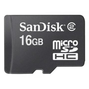 MicroSDHC 16Гб Sandisk (без адаптера)