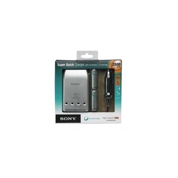 Зарядное устройство Sony BCG34HVE4N (сетевое/автмобильное, для 4х АА/ААА, в комплекте 4АААх2500mAh)