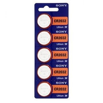 Батарейка Sony (дисковая литиевая, CR2032, 3 В, 5 шт., в блистере, 100/500, срок хранения 7 лет)