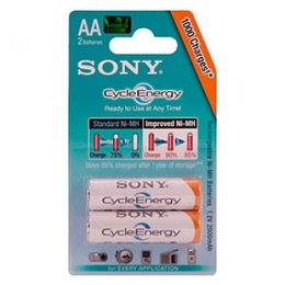 Аккумулятор Sony cycle energy BLUE NHAAB2R (1000 мAч, HR6 (AA), 1.2 В, 2 шт., в блистере, 20/120/15120)