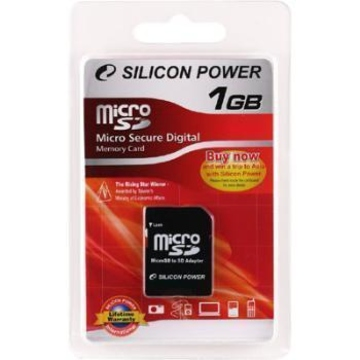 MicroSD 01Гб Silicon Power (адаптер)
