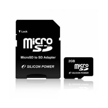 MicroSD 02Гб Silicon Power (адаптер)